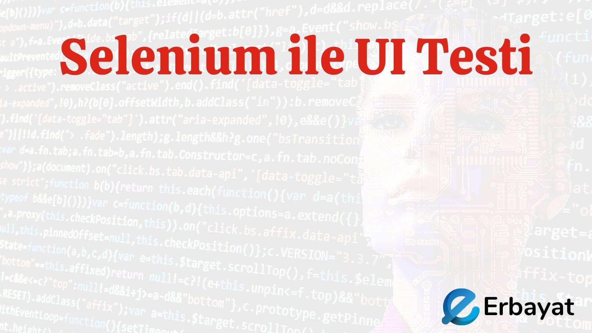Selenium ile UI Testi